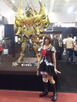 Comic Con Experience 2014 - Lion golden armor by aprict