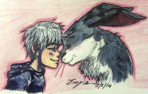 Eskimo Kisses (colored version) by Imhunnysbunny