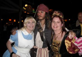 Posing with Jack Sparrow by ChristineFrollophile