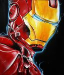 Iron Man Acrylic Painting by roxyms