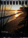 sunset italy calabria in front sicily by ghosttribe