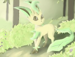 Leafeon by FireflyThe5th
