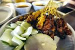 Chicken and Beef Satay by nosugarjustanger
