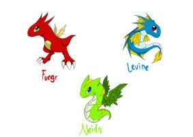 My Fakemon Starters by ArchRizal