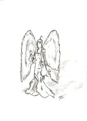 Nike of Samothrace sketch