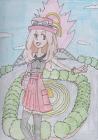 Pokemon - Serena in Anistar City by SwiftNinja91