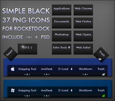 Simple black dock icons by smert1012