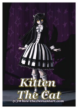 FNAF Oc: Kitten The Cat *updated* by White-Hu