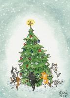 Dance Around the Christmas Tree by liselotte-eriksson