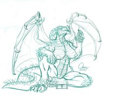 Dragoness Guardian WIP (Patreon Supported!) by Omny87