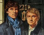 Sherlock and John by ObsidianSerpent