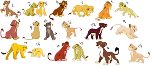 Lion Cub Adoptables 6 by CandyNtheSweetettez