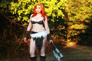 Diablo 3: Female Barbarian by srsRazzmatazz