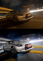 Nissan GT-R Before-After 2 by Bambr