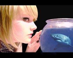 Emily and the shark by kamesen