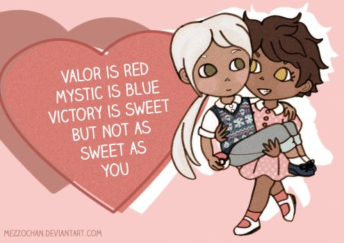 Valor is Red, Mystic is Blue by Mezzochan