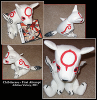 Chibiterasu Plush - Attempt by IchibanVictory