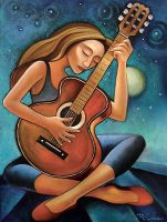A Celestial Guitarist by RonOden