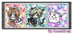 Tsubasa Stamps Collection by emerald-rei