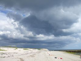 Storm on the Beach II by Anemya-Stock
