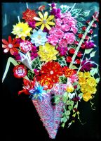 A Paper flower Bouquet!! by RAS11288