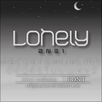 2ne1 Lonely   Font by StillPhantom