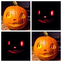 Cheshire Cat Pumpkin by whatonearth