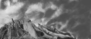 Gray scale mountains by BigwaveDave