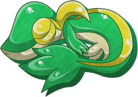Sleeping Snivy by KannaTC