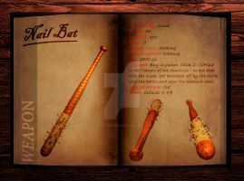 Final Fantasy 7 weapon book (Nail Bat) by Hellfalcon666