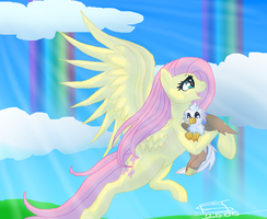Fluttershy And Silverquill by FreiaST