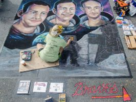 Apollo11 Moon Landing Chalkart 02 by charfade