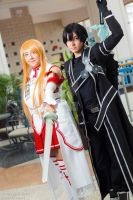 Metrocon 2013: Kirito and Asuna by CupcakeMassacreBear