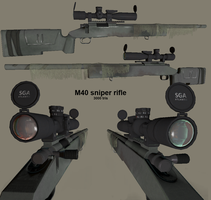 M40 sniper rifle by t17dr