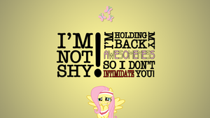 Fluttershy Holds Back Awesomeness by iReever