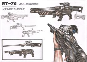 Assault Rifle design concept by Pen-Tacular-Artist