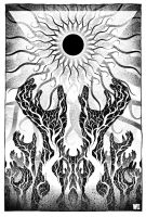 A Sun that Never Sets Black and White by W-Orks
