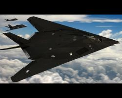 F-117 Nighthawk Fly by by TMC-Deluxe