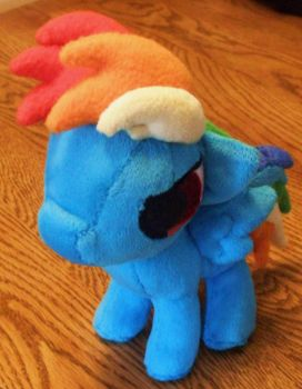 Rainbow Dash Filly Plush by JyamiTeK