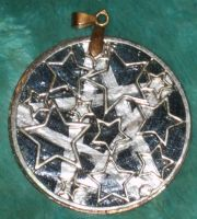 Night Sky Pentacle Pendant 4 by Windthin