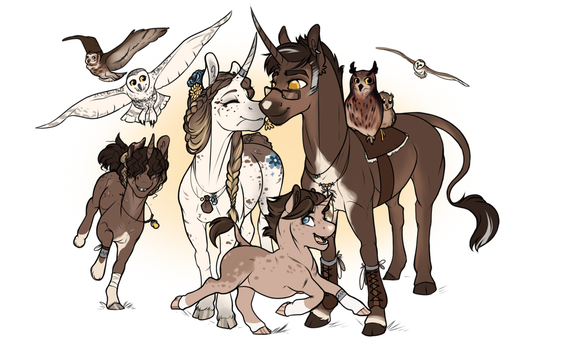 Equinea's and Augustus Family by RomyvdHel-Art