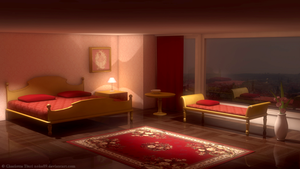 Nightly Scene At a Hotel Suite by nokecha