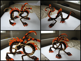 Pipecleaner Dragon of Earth by teblad