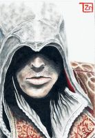 Ezio Auditore Sketch Card - Commission by TolZsolt