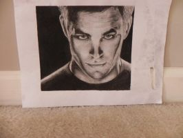 Chris Pine as Captain Kirk - Star Trek by katiem96