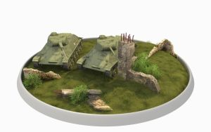 T-50 Tanks diorama by cr8g