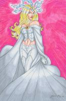 Emma Frost Hand Colored by JamieFayX