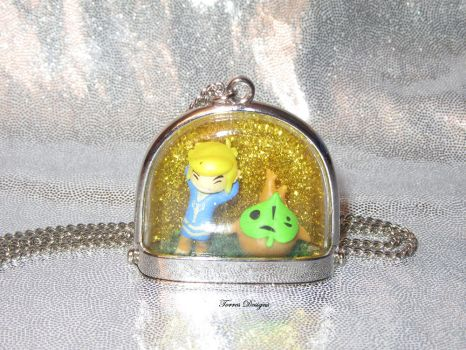 OOAK Toon Link Makar Glass Dome Pendant Necklace by TorresDesigns