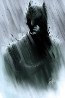 Monochromatic Batman by DarroldHansen