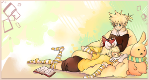 Vocaloid: Rin and Len by katiepox